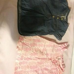 Baby girls summer shirts size 24m/2t